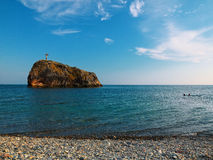 Black Sea kust, udde Fiolent crimea royaltyfri bild