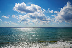 Black sea. Landscape in Anapa. Stock Photography