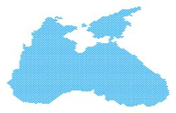 Black Sea Map Full of Fish. Vector water area scheme done of fish items Stock Photos