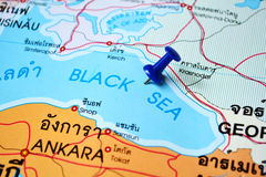 Black sea map Royalty Free Stock Image