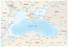 Black sea map Royalty Free Stock Photography