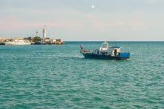 Black Sea near Yalta city's lighthouse Royalty Free Stock Photos