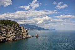 Black sea near Yalta in Ukraine Royalty Free Stock Photo