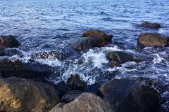 Black Sea in Nesebar royalty free stock photos