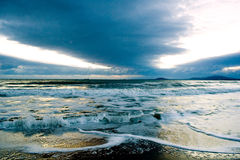 Black sea The new day begins royalty free stock photo