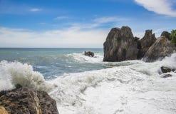 Black Sea och bl? himmel crimea gurzuf fotografering för bildbyråer
