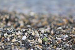Black sea pebble coast, beach, Abkhazia, Georgia Royalty Free Stock Photo