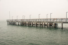 Black sea Pier in Pomorie, Bulgaria royalty free stock photos