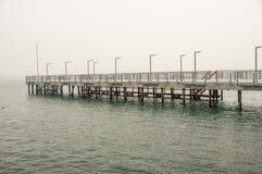Black sea Pier in Pomorie, Bulgaria Royalty Free Stock Photos