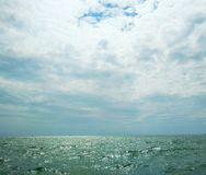 The Black Sea poured with sunshine, Crimea royalty free stock photography