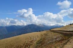 Black Sea region of Turkey. Meadow under sunny blue skies in mountainous Black Sea region of Turkey stock photography