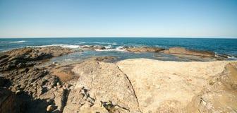Black Sea rocky in Bulgaria Royalty Free Stock Photo