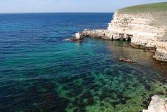 The Black sea rocky coastline Royalty Free Stock Image