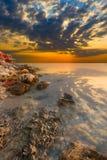 Black Sea. The rocky shore Stock Image