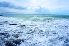 Black sea rush Royalty Free Stock Image