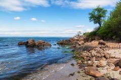 Black Sea seascape nära Burgas, Bulgarien Royaltyfria Bilder