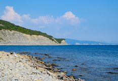 Black Sea, Shirokaya Balka beach next to Novorossiysk Stock Images