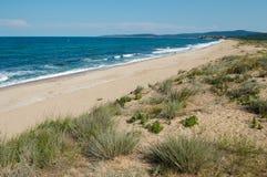 Black sea shore. The Black sea shore South of Sozopol Bulgaria Royalty Free Stock Images
