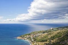Black Sea shore at fall season Stock Photos
