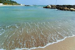 Black Sea Shoreline Royalty Free Stock Photography