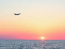 Black Sea solnedgång Arkivbild