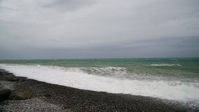 Black Sea during the storm stock footage