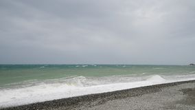 Black Sea during the storm stock video