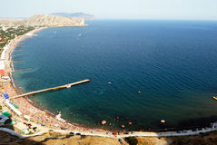Black sea in Sudak City Royalty Free Stock Image