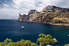 Black sea in Sudak city Stock Photography