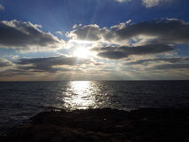 Black sea sunrise and clouds Royalty Free Stock Photography