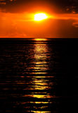 Black Sea at sunset Stock Images