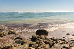 Black Sea surf in Bulgarian Pomorie Royalty Free Stock Photography