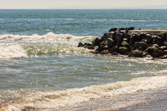 Black Sea surf in old Pomorie, Bulgaria Stock Photography