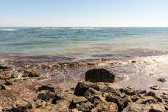 Black Sea surf in Pomorie, Bulgaria Stock Photography