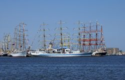 THE BLACK SEA TALL SHIPS REGATTA 2014 Stock Photography