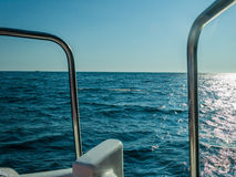 Black Sea trip on pleasure boat Royalty Free Stock Photos