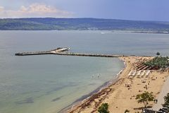 Black sea in Varna. Bulgaria Royalty Free Stock Photography