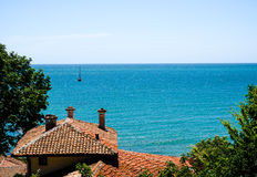 The Black Sea. View of the Black Sea, from Balchick, Bulgaria Stock Images