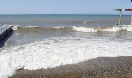 Black Sea waves för textur för hav för illustrationsdesign naturliga Sochi Royaltyfri Foto