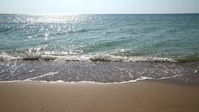 The Black Sea Waves At Shoreline stock video footage