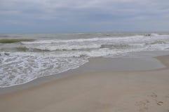 Black sea waves. Stormy day. Beach Stock Image