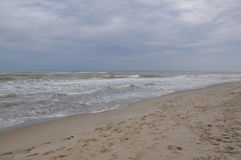 Black sea waves. Stormy day. Beach Royalty Free Stock Photography