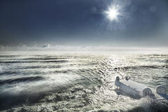 Black Sea in winter Stock Photography