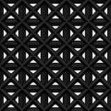 Black seamless 3d texture. Interior wall decoration. Vector interior cage wall panel pattern. Black seamless 3d texture. Interior wall decoration. Vector Stock Image