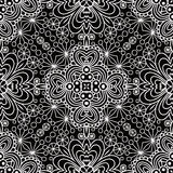 Black seamless floral pattern background Stock Photos