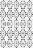 Black seamless flower damask pattern Royalty Free Stock Photo