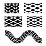 Black seamless garden hose symbols Royalty Free Stock Images