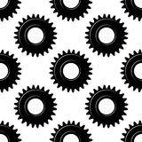Black seamless gears or cogwheels pattern Stock Photography