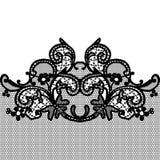 Black seamless lace. Arts celebrations crafts decorative seamless lace pattern Royalty Free Stock Image