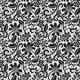 Black seamless lace pattern Royalty Free Stock Photos